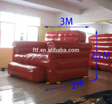 new design custom 3M long pvc giant inflatable air sofa