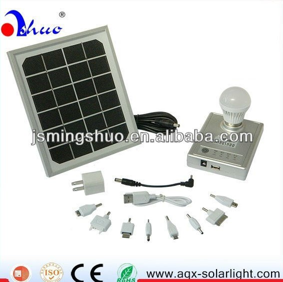 solar phone charger with 1W LED lamp