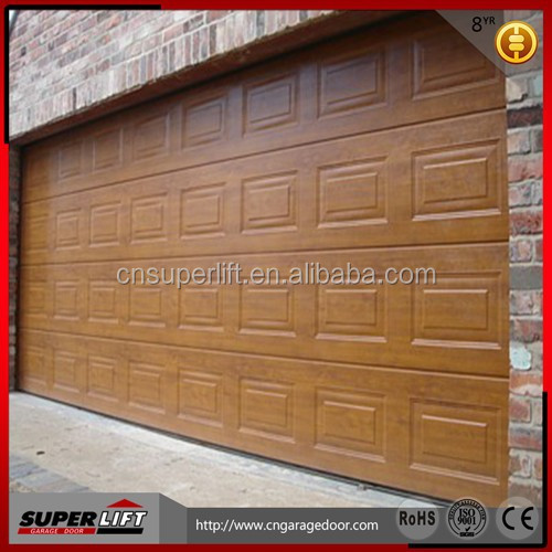CE approved Automatic Sectional sandwich panel garage doors with Polyurethane foam