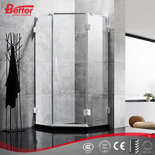 High quality tempered glass corner shower cubicles