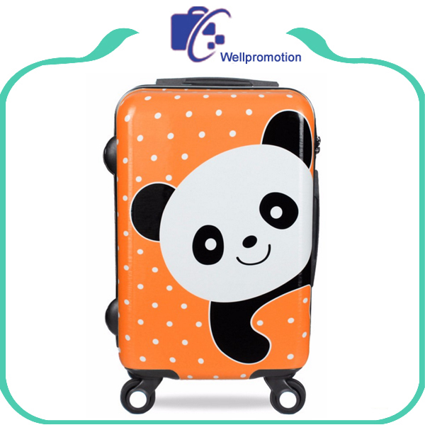 Panda pattern cute girl travel luggage case/trolley bag case/suitcase
