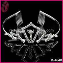 High Quality Beautiful Artificial Stones New Arrival Wholesale Pageant Crowns And Tiaras