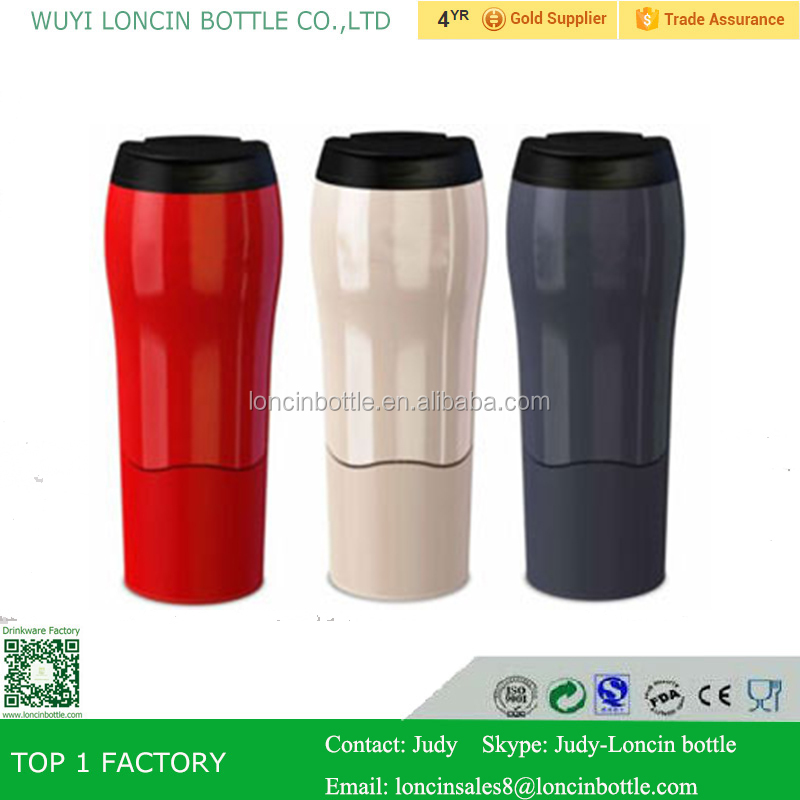 550ml plastic mighty cup,unspillable travel coffee mug,red/white/black mighty mugs