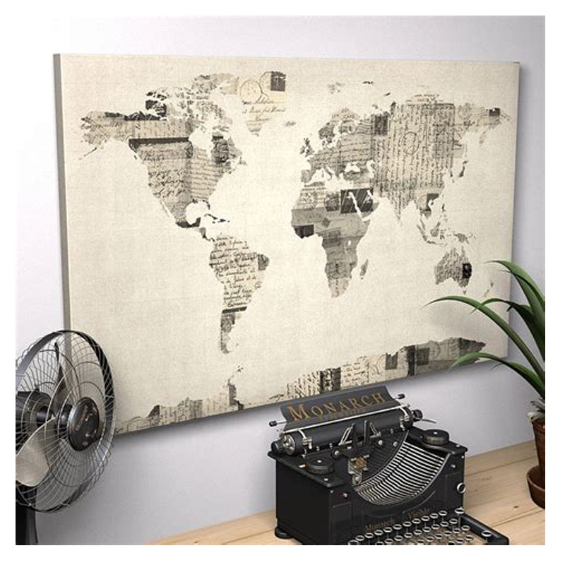 Large World Map 1 Panel Canvas Print Wall Art For Home Decor - Buy World  Map Canvas Painting,World Map Wall Art,Canvas Print Wall Art Product on ...