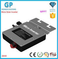 With MPPT Tacking Waterproof 260W Pure Sine Wave Grid Tie Solar Micro Power Inverter