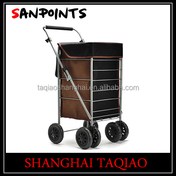 foldable shopping trolley bag shopping bag trolley folding shopping cart with seat