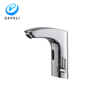 Hot Cold Water Mixer Wall Mounted Brass Chrome Automatic Infrared Electronic Sensor Faucet