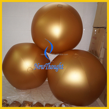 1m 2m wholesale golden color giant inflatable beach ball