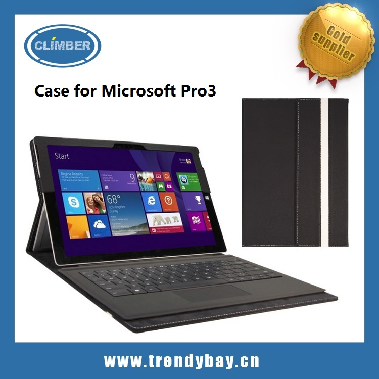 High quality Stand leather case for Microsoft Surface Pro 3