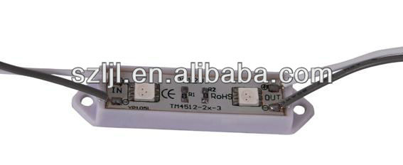 ABS material cold white 5050 SMD led Module 2 chips for stage backlighting