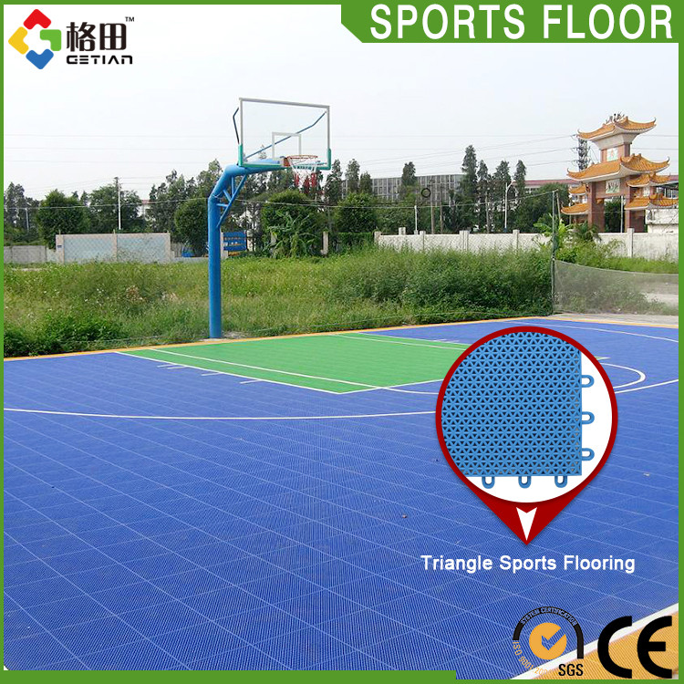 2016 Hot Sell outdoor basketball court floor, new PP material for outdoor basketball court
