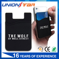 Hot Selling Soft Silicone Mobile Phone Card Holder, Pvc Card Holder With 3m