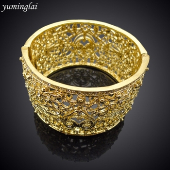 Latest Design CZ Copper Fashion Bangle European and American punk style Fashion Jewelry Bracelet GHK940