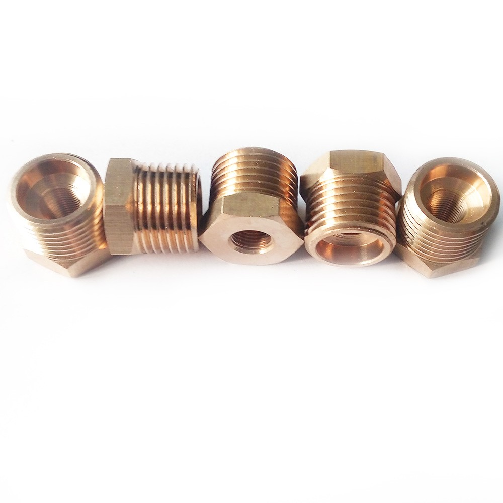 "New 1/4"" Male x 1/8"" Female Thread Reducer Bushing Pipe Fitting Brass NPT"