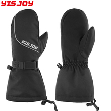 Unisex Adults Cold Weather warmest Colorized Puffy Waterproof Ski Mittens Gloves