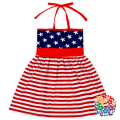 White Stars And Red Stripes Baby Clothing Sets 4th Of July National Day Tops And Pants Girls Outfit