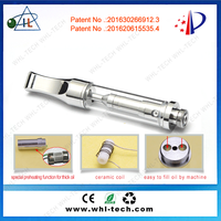 2016 new product refillable cbd atomizer for hemp oil glass ceramic coil empty cbd oil atomizer
