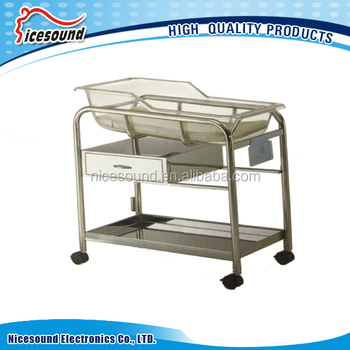 Stainless steel baby bassinet bed