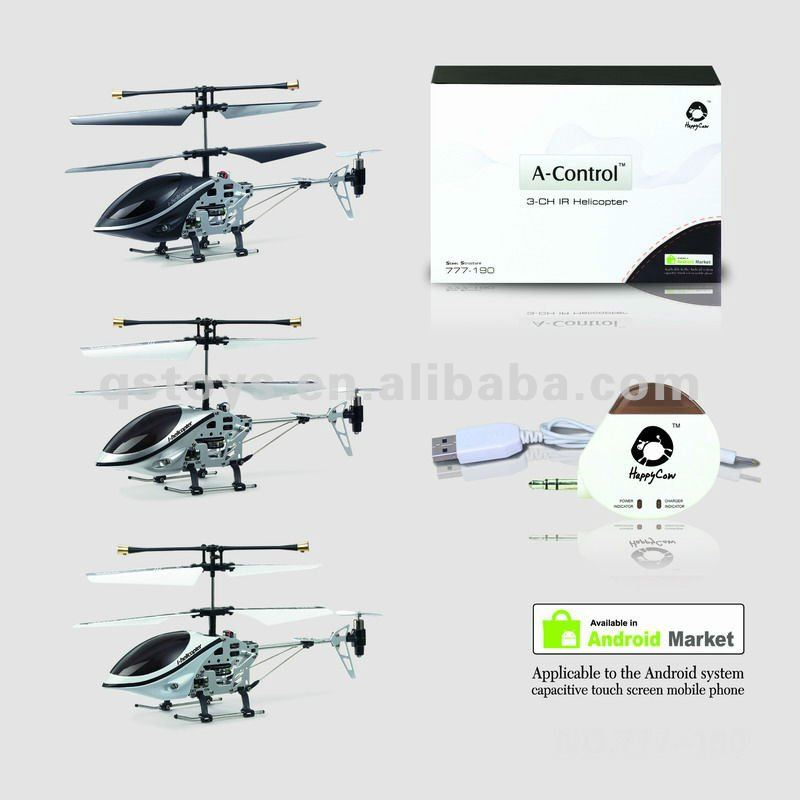 Android control 3CH RC alloy metal helicopter with infrared,gyro and transmitter