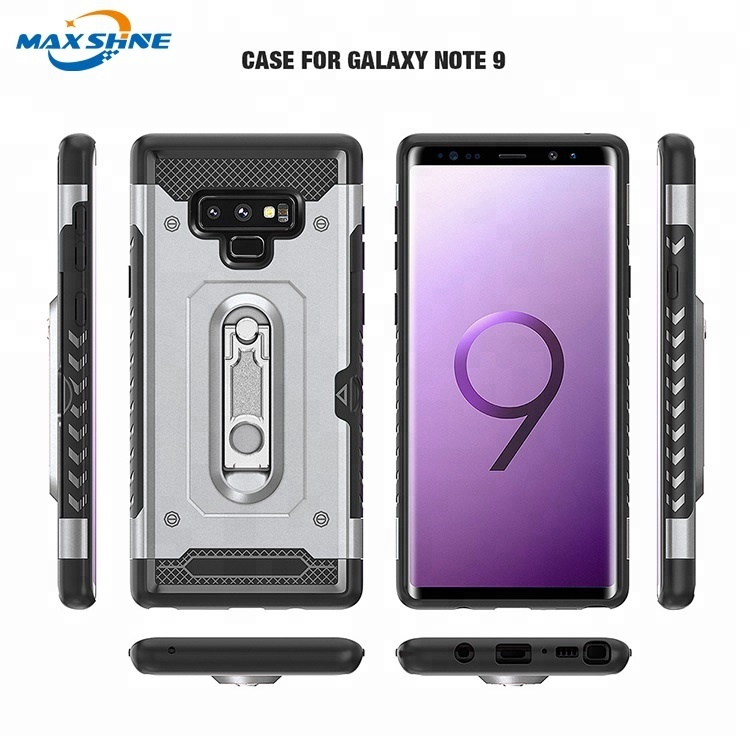 Maxshine Shockproof Armor Anti Crack Design Tpu Pc 2 In 1 360 Phone Case Card Holder Cover For Samsung Galaxy S8 S9 Note8 Note9