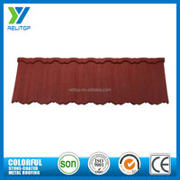 Stone Coated Chip Steel Roof Tile Metal Roofing Sheets