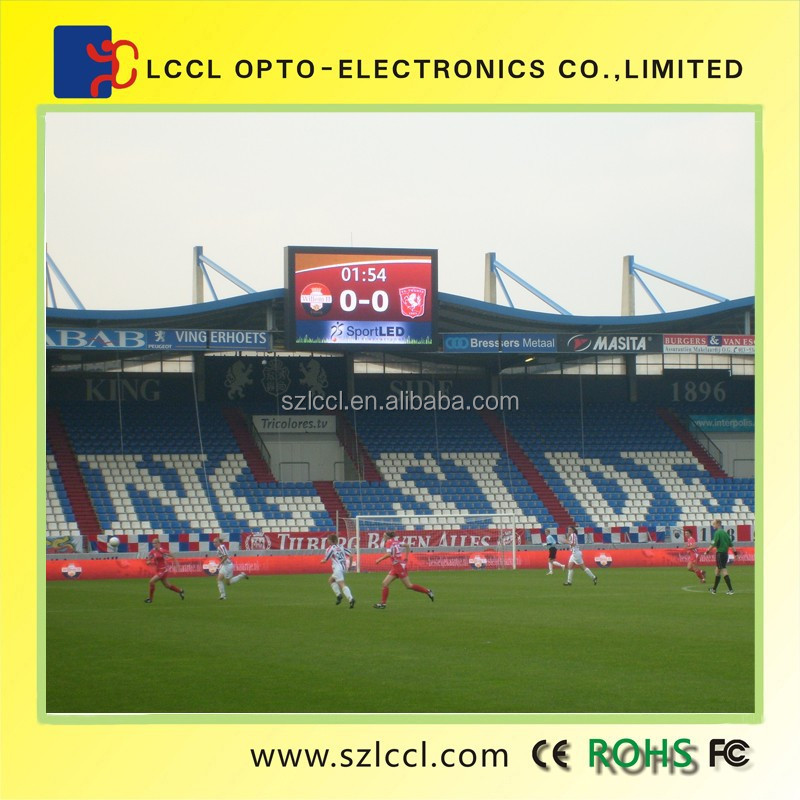 High Brightness P20 outdoor full color Football field display screen / outdoor led video wall