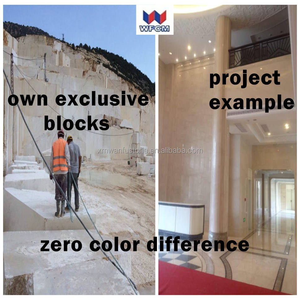 OWN EXCLUSIVE Ivory Beige marble/ZERO COLOR DIFFERENCE marble project example/2015 cream jade marble tiles