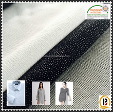 China wholesale 100polyester Tricot knitted fusible interlining /warp knitted garment interfacing as shirt collar fusing(#7252)