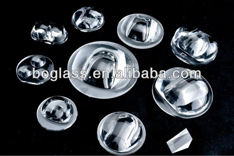 led glass lens for street light/camea from factory