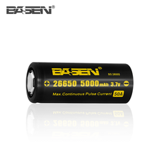 BS26005 BASEN 26650 5000mah 3.7v rechargeable lithium ion battery 60A making machine