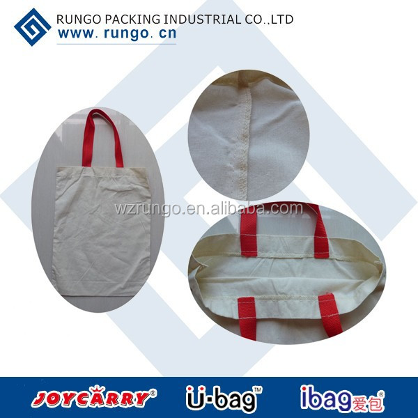 Wholesale customized plain white cotton canvas tote bag