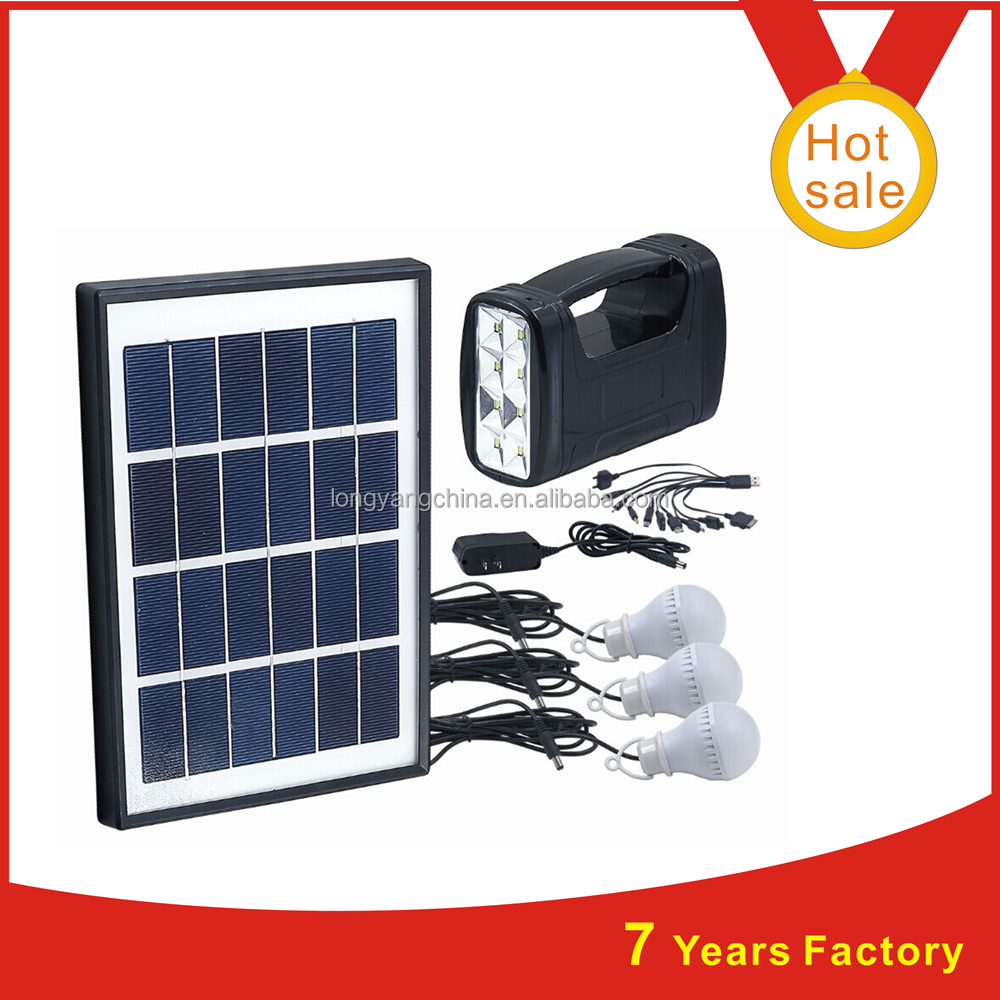 2015 new 5W solar panel 4AH battery 3pcs 3W led bulb solar led light set for indoor