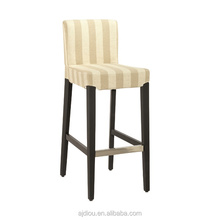 Fabric solid wood frame bar stool chair