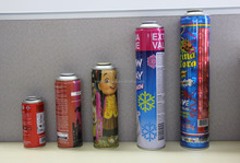 party spray snow and spray colored ribbon aerosol tinplate can