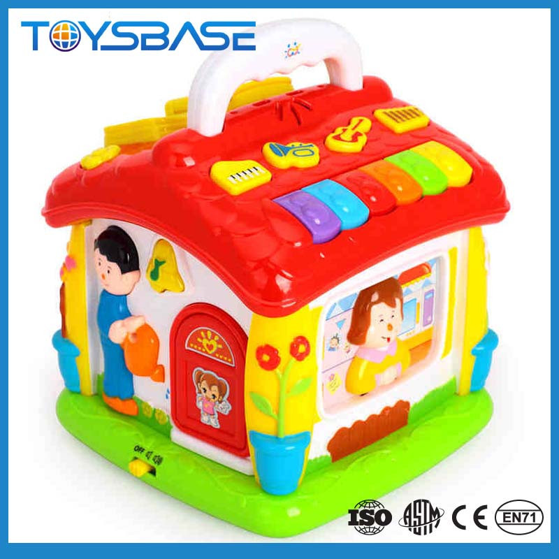 New fashion baby playing plastic house with music and light best selling education toy