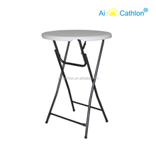Outdoor Rental Plastic Cocktail Table,Party High Top Folding Bar Cocktail Tables