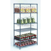 NSF Approval 6 Layers Epoxy Metal Supermarket Wire Shelf Display Rack