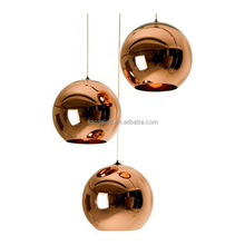 Contemporary Type Hotel / Restaurant / Party Decor Glass Ball Copper Pendant Light
