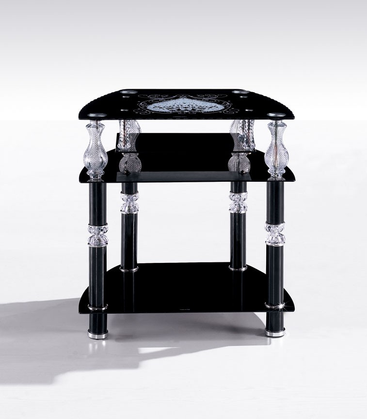 latest modern corner tv stand led coffee table tea table with glass top