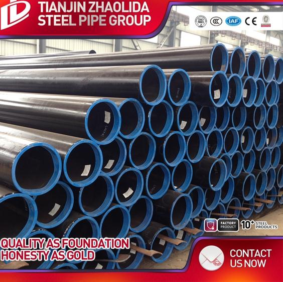 hot selling round black welded ERW metal tube 48.3mm scaffolding a53b steel pipe specifications for fence post