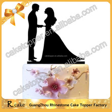 Factory price wholesale Wedding Supplies Acrylic bride and groom cake toppers for wedding