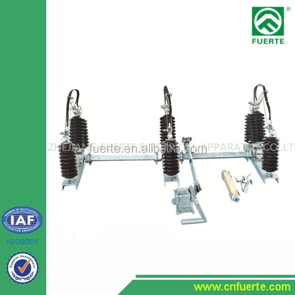 11KV-33KV Gang Isolator/Disconnecting switch/Air Break Switch complete with support frame,handle support