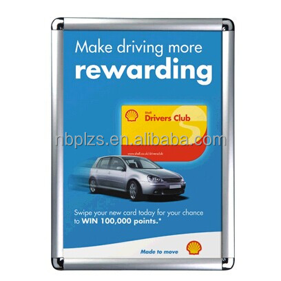 Advertising snap <strong>frame</strong>,aluminum <strong>poster</strong> display,round metal photo <strong>frame</strong> b2