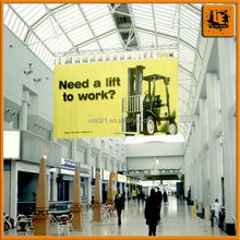stitching heat transfer print airport advertising banner hanging banner/hanging banners from ceiling for airport