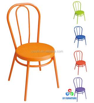 Stackable Plastic Bistro Chairs Restaurant Dining Chairs