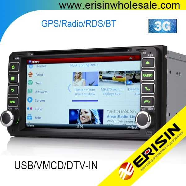 "Erisin ES7603M 7"" Touch Screen Car DVD Player GPS for RAV4 2001 2002"