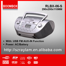 RLBX-06-S Retro Home AM/FM USB Boombox Radio with Aux-in Phone