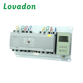NDQ3B White Color Intelligent Dual Power Automatic Transfer Switch / automatic Changeover Switch With ATS Voltage AC 220V
