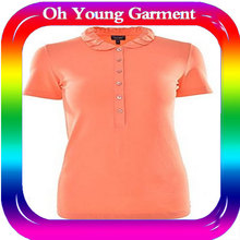 Wholesale sport dry fit 100 polyester v neck t shirt for women and man dry fit sport clothing
