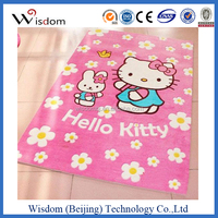 Pink hello kitty bedroom carpet with 100% polyester